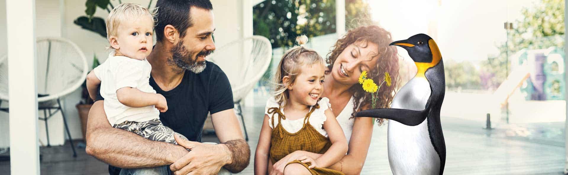 JO mit Familie auf Terrasse